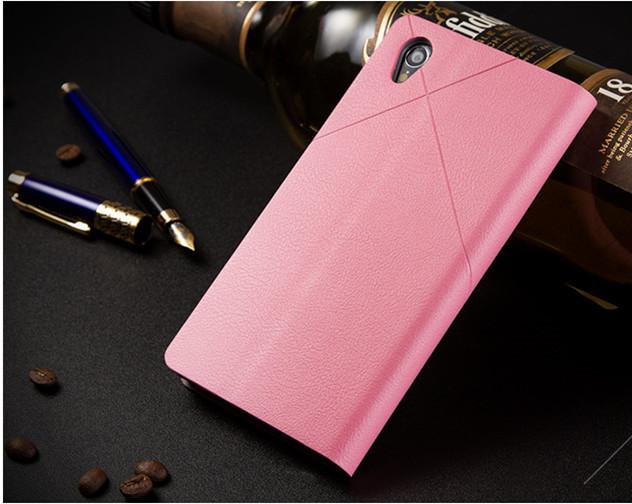 เคส Sony Xperia Z1 SOXZ1-003 เคสฝาพับสีชมพู 2