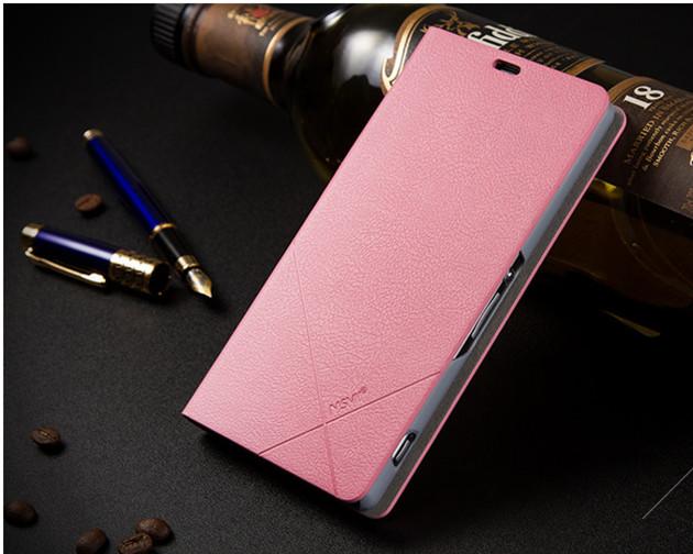 เคส Sony Xperia Z1 SOXZ1-003 เคสฝาพับสีชมพู