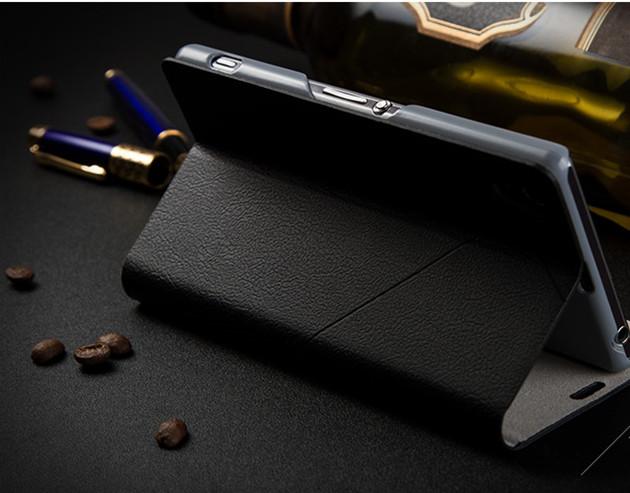 เคส Sony Xperia Z1 SOXZ1-003 เคสฝาพับสีดำ 2
