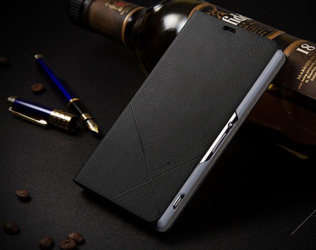 เคส Sony Xperia Z1 SOXZ1-003 เคสฝาพับสีดำ