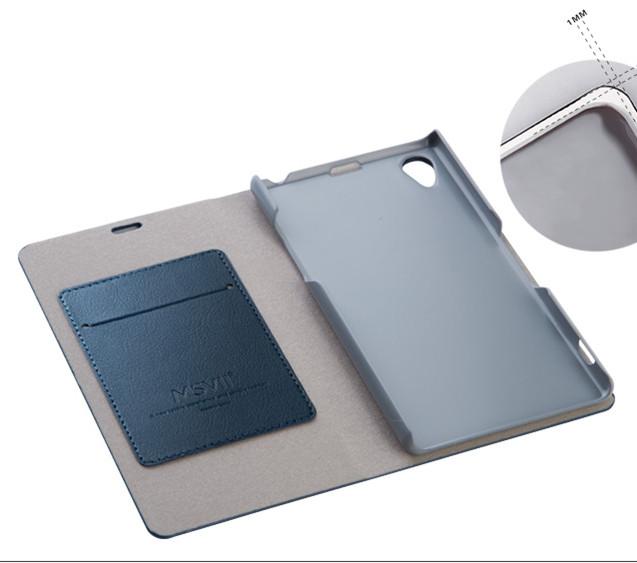 เคส Sony Xperia Z1 SOXZ1-003 เคสฝาพับสีน้ำเงิน 3