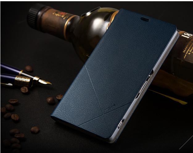 เคส Sony Xperia Z1 SOXZ1-003 เคสฝาพับสีน้ำเงิน