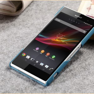 เคส Sony Xperia Z1 SOXZ1-004 เคสแข็งสีฟ้า 2